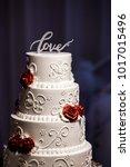 wedding cake at reception | Shutterstock . vector #1017015496