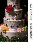 wedding cake at reception | Shutterstock . vector #1017015499