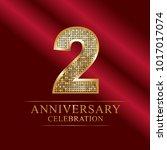 anniversary  aniversary  two... | Shutterstock .eps vector #1017017074