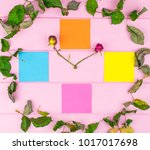 A Clock From Dried Flowers Wit...