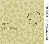 happy st. patrick's day irish... | Shutterstock .eps vector #1017018073
