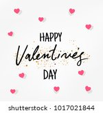 happy valentines day typography ... | Shutterstock .eps vector #1017021844