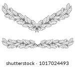 drawing of oak branches in the... | Shutterstock .eps vector #1017024493