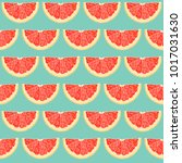 seamless pattern with sliced...   Shutterstock .eps vector #1017031630