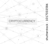 line cryptocurrency creative... | Shutterstock .eps vector #1017033586