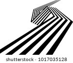 abstract black and white... | Shutterstock . vector #1017035128