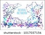 neural network illustration.... | Shutterstock .eps vector #1017037156