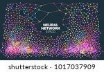 neural network illustration.... | Shutterstock .eps vector #1017037909