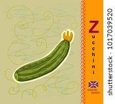 english letter z. zucchini   Shutterstock .eps vector #1017039520