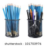 collection of pencils  pens ... | Shutterstock . vector #101703976