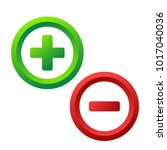 plus and minus icon buttons on... | Shutterstock .eps vector #1017040036