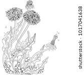dandelion flower. adult... | Shutterstock .eps vector #1017041638