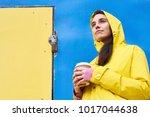bright colorful portrait of...   Shutterstock . vector #1017044638