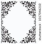 flower border design elements... | Shutterstock .eps vector #1017046210