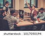 creative colleagues... | Shutterstock . vector #1017050194
