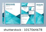 blue corporate identity set... | Shutterstock .eps vector #1017064678