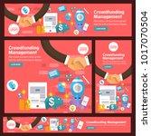 banner set flat design concept... | Shutterstock .eps vector #1017070504