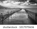 Black And White Image Of The...