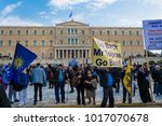 athens  greece  february 4 2018 ... | Shutterstock . vector #1017070678