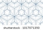 geometric cubes abstract... | Shutterstock .eps vector #1017071350