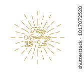 happy anniversary 15 burst... | Shutterstock .eps vector #1017072520