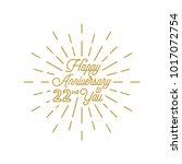 happy anniversary 22 burst... | Shutterstock .eps vector #1017072754