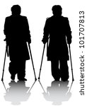 vector graphic disabled man... | Shutterstock .eps vector #101707813