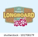 vintage surf crest | Shutterstock .eps vector #101708179