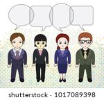 chibi style illustrations of a... | Shutterstock .eps vector #1017089398