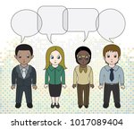 chibi style illustrations of a... | Shutterstock .eps vector #1017089404