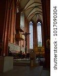 Small photo of Frankfurt, Germany - 08.13.2016: Frankfurt Dom Cathedral