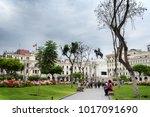 lima  peru   jan 21  plaza san... | Shutterstock . vector #1017091690