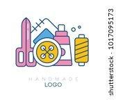 original logo with accessories... | Shutterstock .eps vector #1017095173