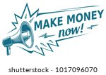 make money sign with megaphone | Shutterstock .eps vector #1017096070