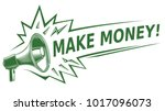 make money sign with megaphone | Shutterstock .eps vector #1017096073