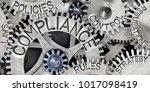 macro photo of tooth wheels... | Shutterstock . vector #1017098419