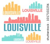 louisville kentucky usa flat... | Shutterstock .eps vector #1017102256