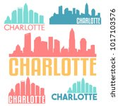 charlotte north carolina usa... | Shutterstock .eps vector #1017103576