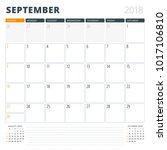 calendar planner for september... | Shutterstock .eps vector #1017106810