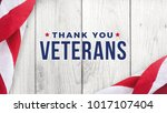 thank you veterans text with... | Shutterstock . vector #1017107404