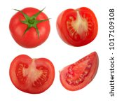 set on tomatoes isolated | Shutterstock . vector #1017109108