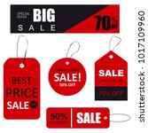 set of sale tags with text.... | Shutterstock .eps vector #1017109960