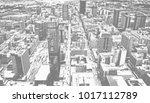 matte vintage. skyscrapers in... | Shutterstock . vector #1017112789