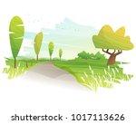 beautiful landscape background  ...   Shutterstock .eps vector #1017113626