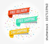 free delivery  free shipping  ... | Shutterstock .eps vector #1017115963