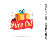 price cut shopping gift box | Shutterstock .eps vector #1017115966