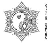circular pattern in form of... | Shutterstock .eps vector #1017119629