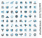 business and financial icon set ... | Shutterstock .eps vector #1017121999