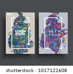 artistic poster templates. hand ... | Shutterstock .eps vector #1017122608