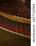 Small photo of Inside of a beautiful grand piano